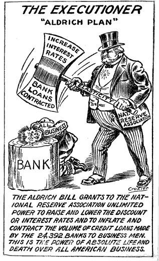 aldrich wielding axe of central bank